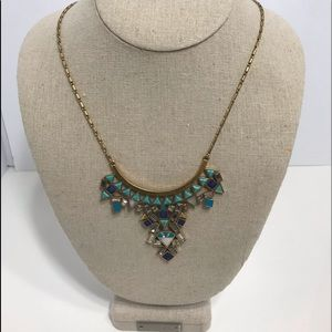 Stella dot turquoise and gold changeable necklace
